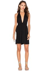 Rachel Pally X Revolve Deep V Mini Dress Black