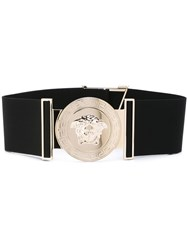 Versace Wide Military Medusa Belt Black