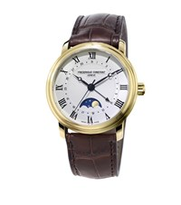 Frederique Constant Classics Auto Moonphase Watch Unisex Gold