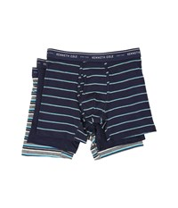 Kenneth Cole Reaction Boxer Brief Navy Marine Men's Underwear Blue