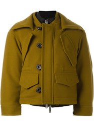 Dsquared2 Draped Layer Pocket Coat Green