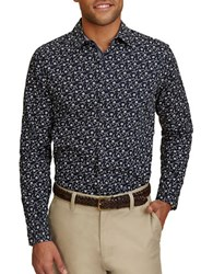 Nautica Floral Printed Cotton Shirt Martime Navy