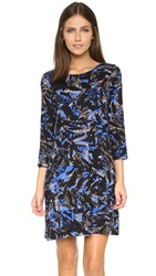 Yumi Kim T Shirt Dress Black Shadow Flower