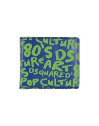 Dsquared2 Small Leather Goods Wallets Men Blue
