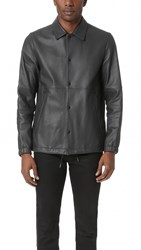 Theory Kelleher Leather Coach Jacket Light Night