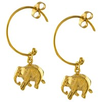 Alex Monroe Indian Elephant Hoop Earrings Gold