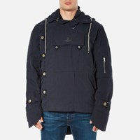 Vivienne Westwood Anglomania Men's Military Parka Jacket Dark Blue