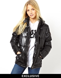 Puffa Jacket Exclusive To Asos Black