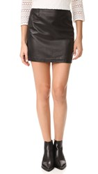 Mackage Alva Leather Skirt Black
