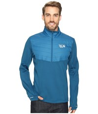 Mountain Hardwear 32 Insulated 1 2 Zip Phoenix Blue Men's Long Sleeve Pullover
