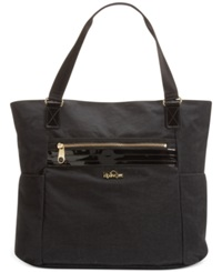 Kipling Always On Collection Leah Tote Black Patent Combo