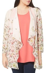Evans Plus Size Women's Butterfly Border Kimono Jacket