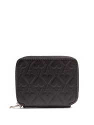 Ami Alexandre Mattiussi Ace Of Hearts Embossed Leather Wallet Black