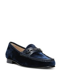 Sam Edelman Talia Velvet Loafers Navy Blue