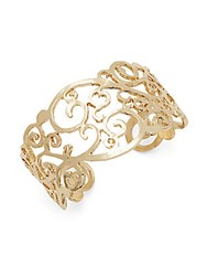 Saks Fifth Avenue 14K Gold Plated Detailed Filigree Cuff Bracelet