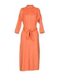 Barba Napoli 3 4 Length Dresses Orange