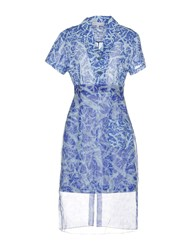 Jonathan Saunders Knee Length Dresses Sky Blue