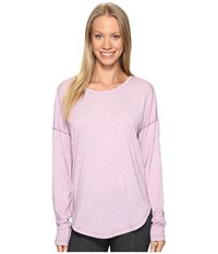 Lucy Final Rep Long Sleeve Top Fresh Lavender Heather Women's Long Sleeve Pullover Pink