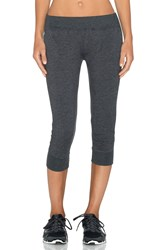 Solow French Terry Capri Pant Charcoal