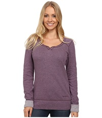 Carhartt Pondera Scoop Neck Shirt Purple Sage Heather Women's Long Sleeve Pullover Brown