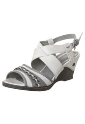 Mustang Wedge Sandals Ice Off White
