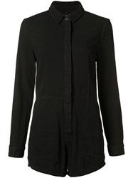 Ksubi Shirt Playsuit Women Cotton Xs Black