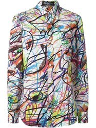 Jeremy Scott Scribble Print Shirt White