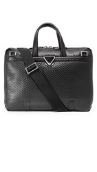Z Zegna Pixel Slim Business Bag Black