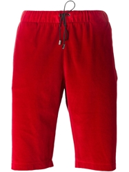 Versace Medusa Track Shorts Red