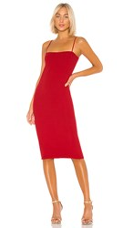 Michael Lauren Eric Dress In Red. Coral Red