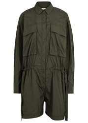Dkny Army Green Shell Playsuit