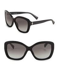 Cole Haan 59Mm Butterfly Sunglasses Black