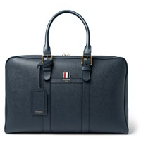 Thom Browne Pebble Grain Leather Holdall Navy