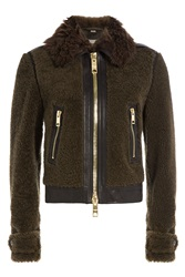 Burberry Brit Shearling Jacket Green