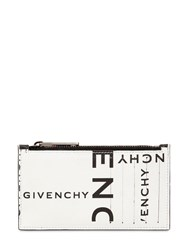 Givenchy Logo Printed Leather Zip Wallet Black