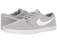 Nike Portmore Ii Solar Canvas Wolf Grey White Black Men's Skate Shoes
