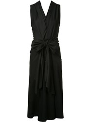 Tome 'Drill Bow Front' Dress Black