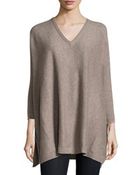 Christopher Fischer Cashmere Knit Poncho Tuffet