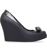Melissa Queen Jelly Wedges Black