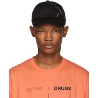 Raf Simons Black 'Strange Days' Baseball Cap