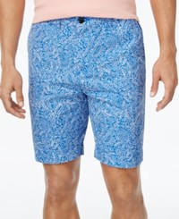 Tommy Hilfiger Men's Custom Fit Furyk Paisley Print Shorts Dory Blue