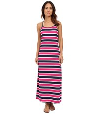 Tommy Bahama Nautical Long Scoop Neck Dress Cover Up Mare Navy Women's Swimwear