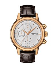 Tissot Mens Carson Automatic Chronograph Rose Goldtone Watch Brown