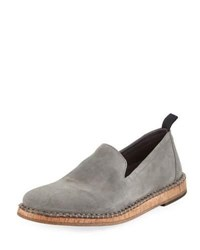John Varvatos Zander Suede Slip On Loafer Gray
