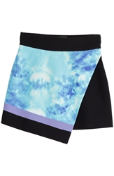 Fausto Puglisi Silk Mini Skirt With Tie Dye Print