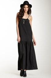 Whitney Eve Spaghetti Drop Waist Dress Black