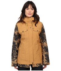 Roxy Ceder Jacket Bone Brown Women's Coat Yellow