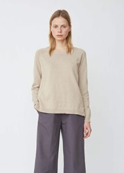 Aspesi Lightweight Cotton Blend Crewneck Sweater Beige