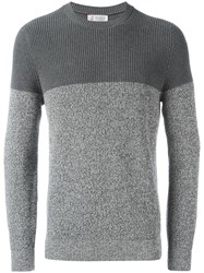 Brunello Cucinelli Tonal Ribbed Jumper Grey