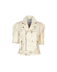 Frankie Morello Coats And Jackets Jackets Women Ivory